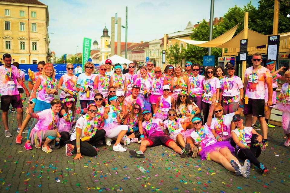 Gold Gym Team la Colorrun 2016