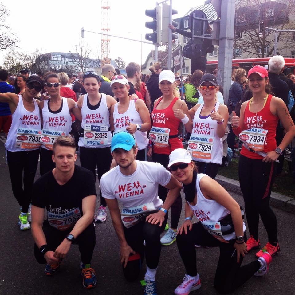 Gold Gym Team la Vienna city Marathon 2015