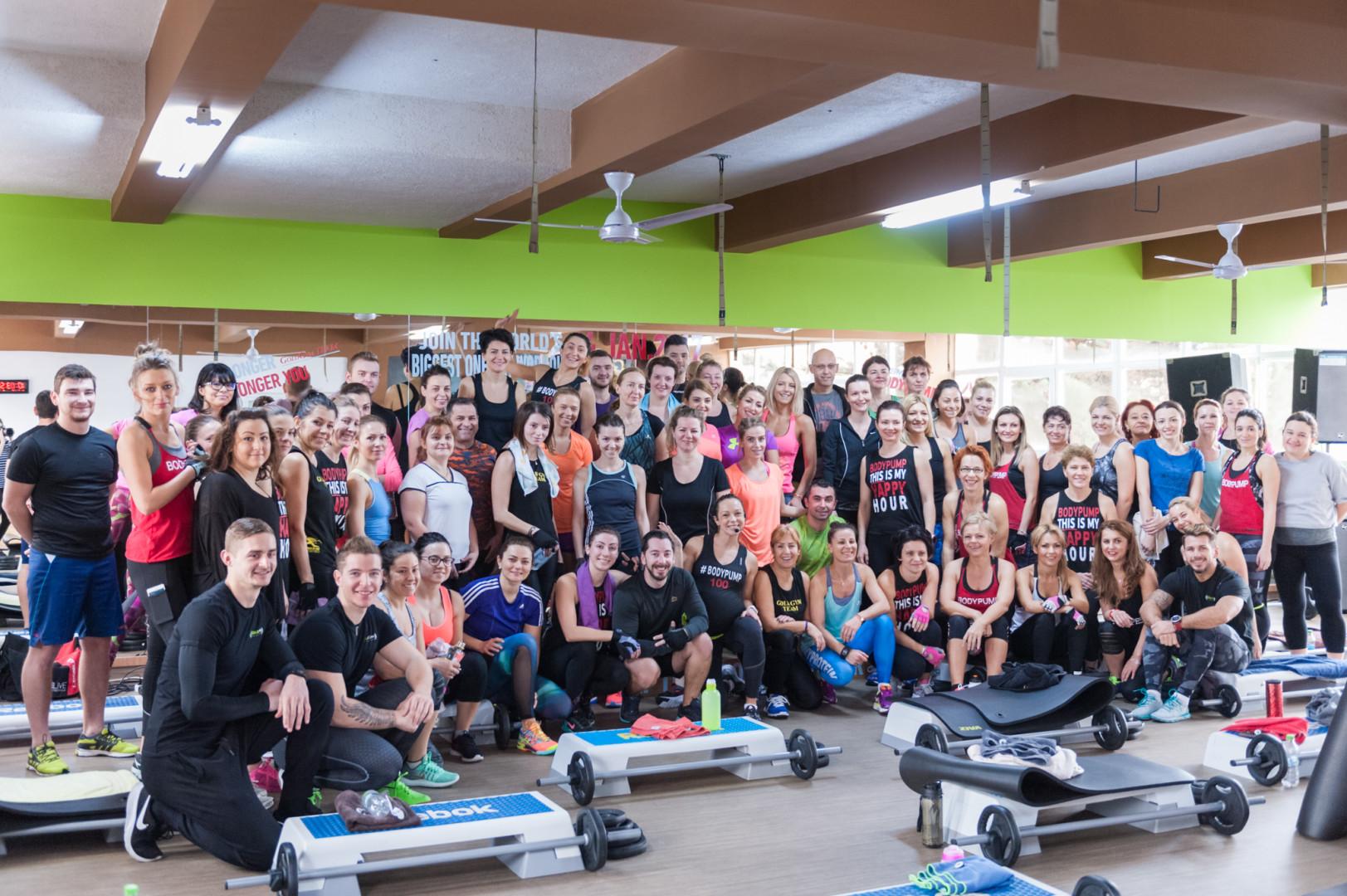 Lansarea programului Lesmills BODYPUMP100 – 14.ianuarie2017